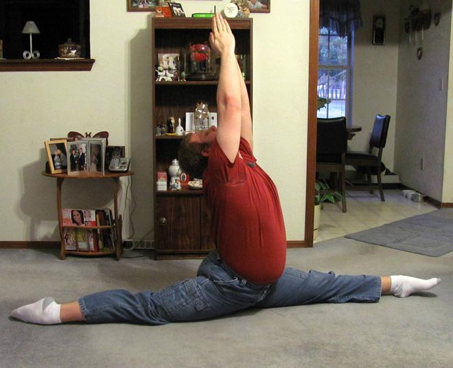 Meet Chris: the splits guy.