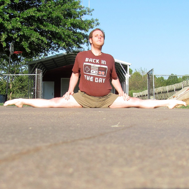 Meet Chris: the splits guy.