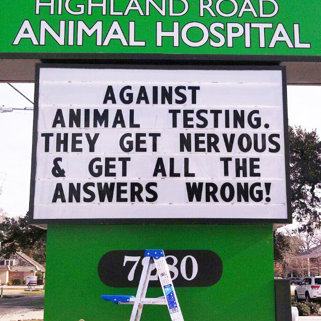 Against animal testing!