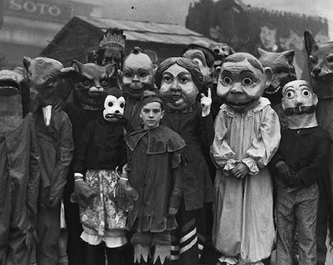 Creepy vintage halloween costumes.