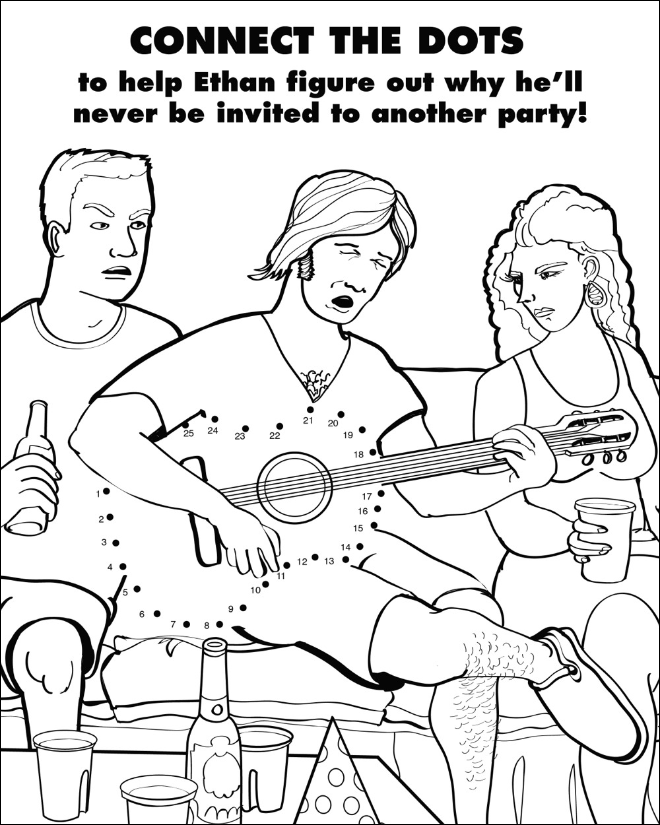 Coloring and activity book for grown-ups.