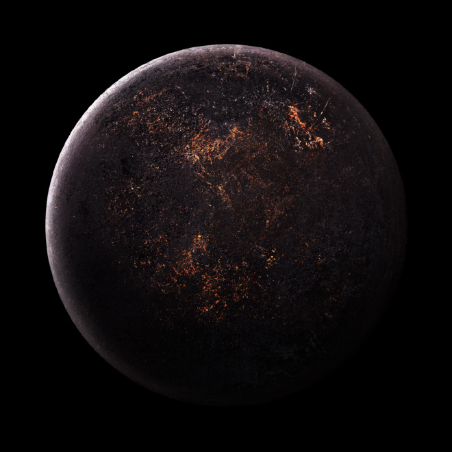 Frying pan that looks like an alien planet.