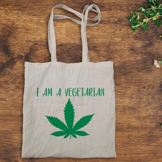 Vegetarian shopping bag.