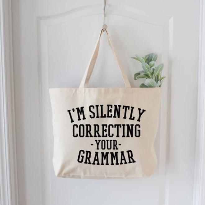 Grammar nazi shopping bag.