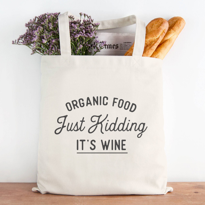 Organic food bag.