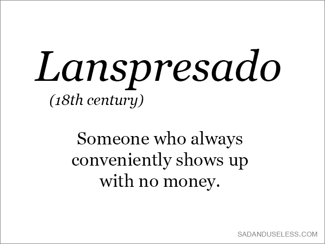 Old word that needs to come back.