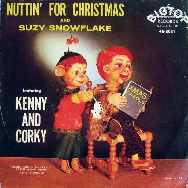 Awkward vintage Christmas album cover.