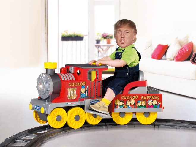 Trump photoshopped as a little kid.
