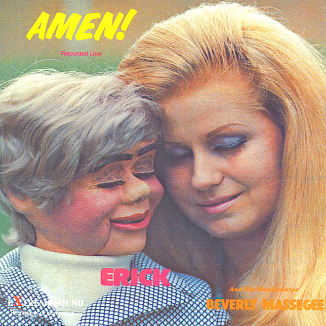 Awkward vintage Christian album cover.