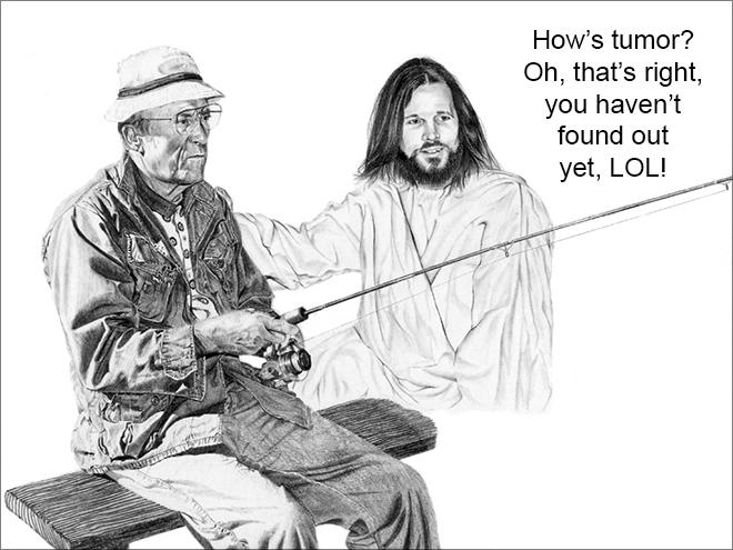 Jesus being a jerk.