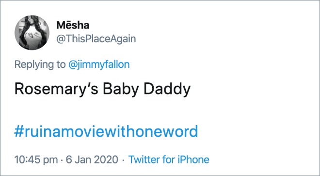 How adding one word changes the movie title...