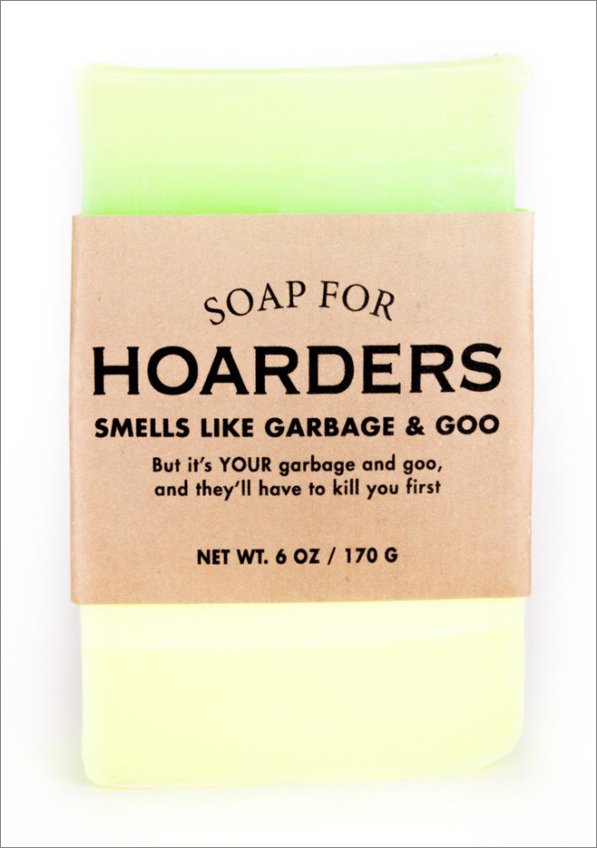 Unusually scented soap bar.