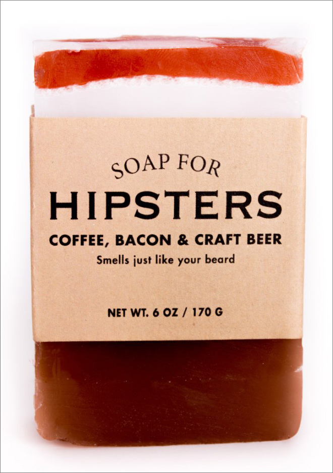 Soap for hipsters.