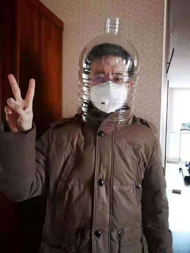 DIY coronavirus mask.
