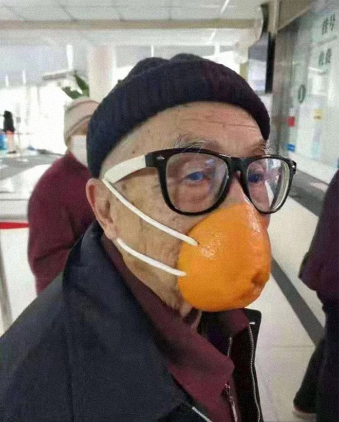 DIY coronavirus masks.
