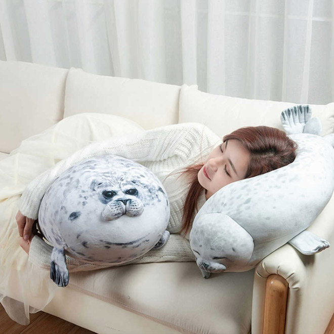 Fat seal pillows.