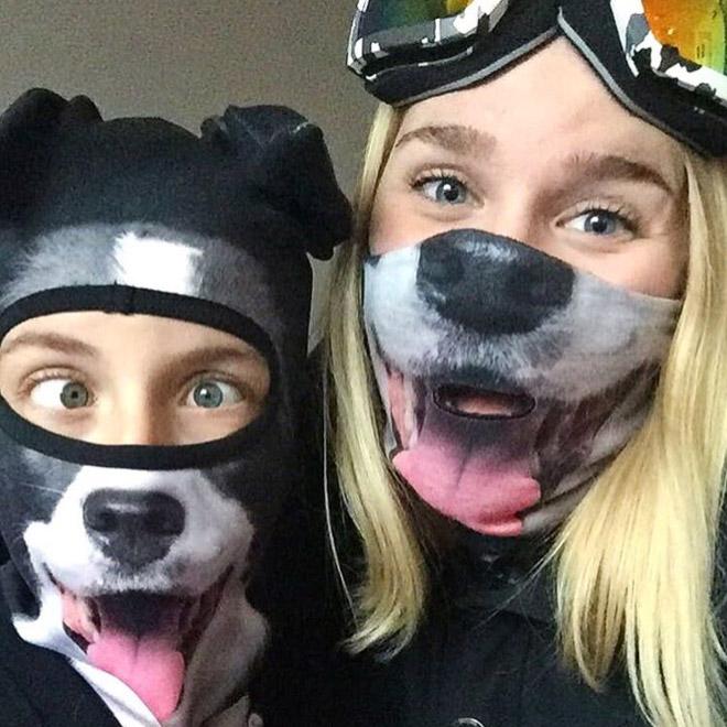 Funny ski masks.