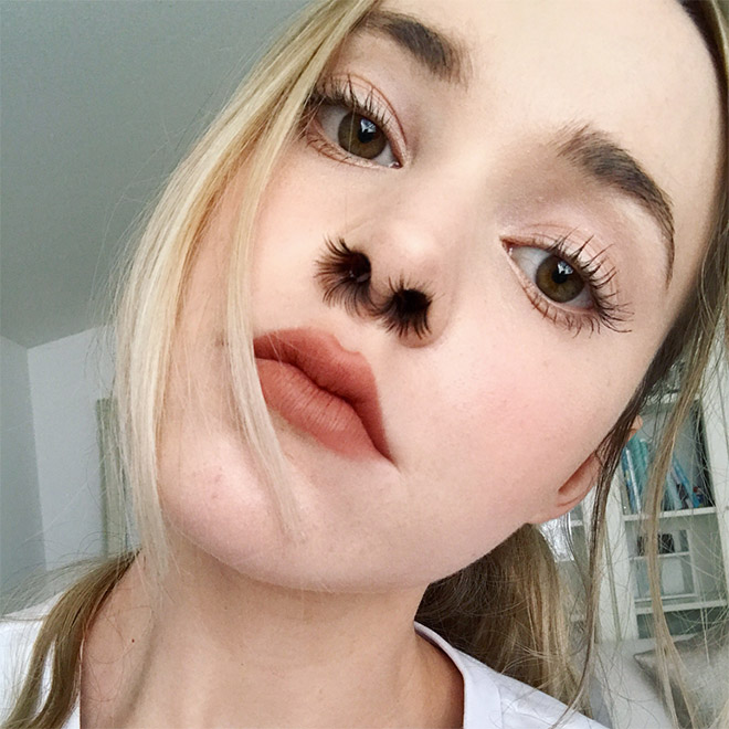 Nostril hair extensions: awkward beauty trend on Instagram.