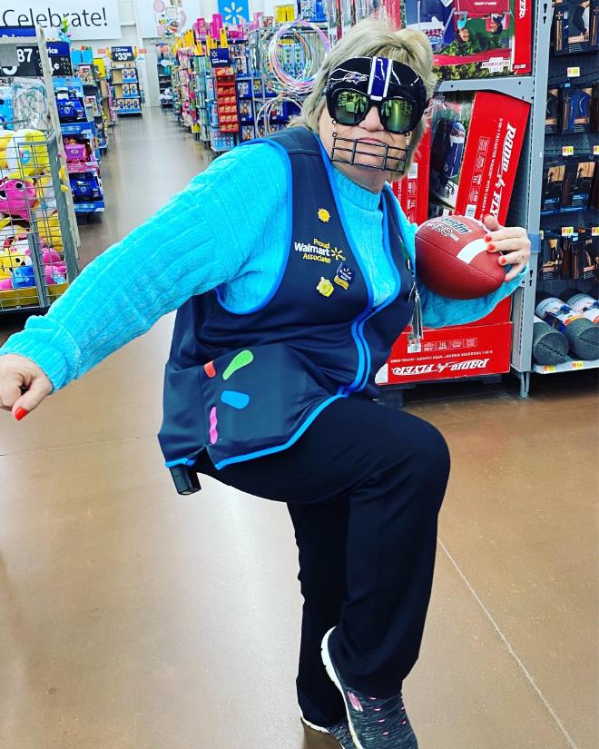 Meet Charlene. She loves working at Walmart.
