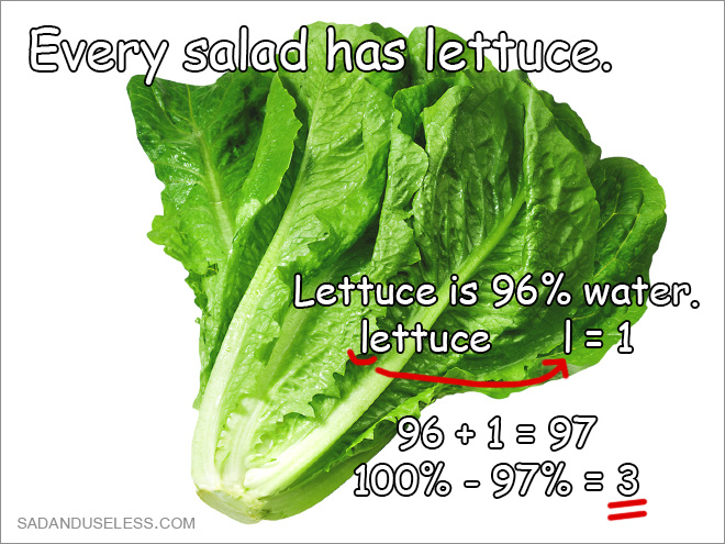 Salad finally exposed for what it truly is!