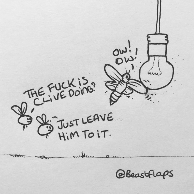Funny doodle.