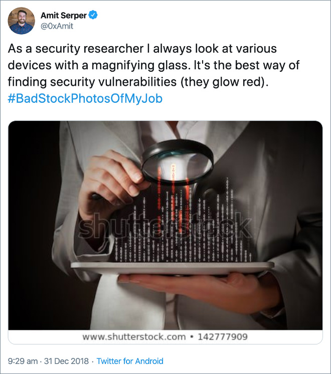 As a security researcher I always look at various devices with a magnifying glass. It's the best way of finding security vulnerabilities (they glow red).