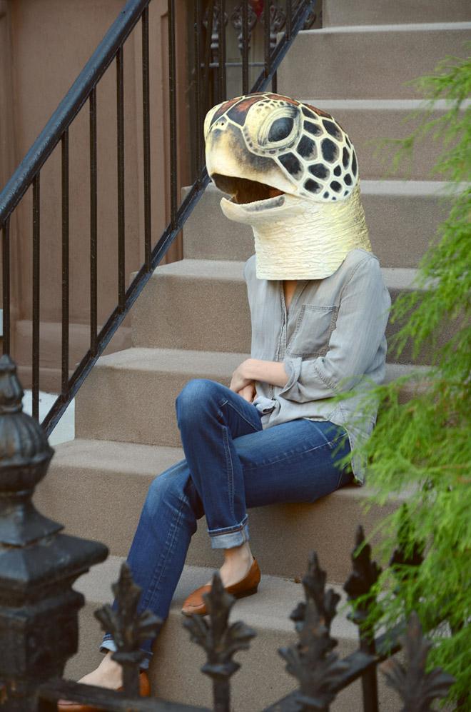 Animal head mask by Liz Sexton.