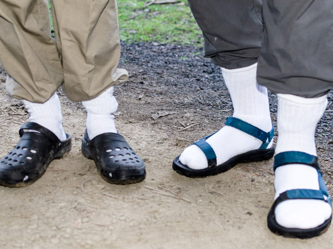 Is there anything more beautiful than socks and sandals?