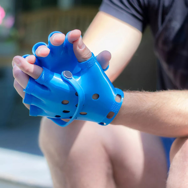 Crocs gloves.