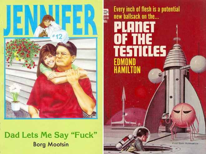Vintage young adult book parodies.