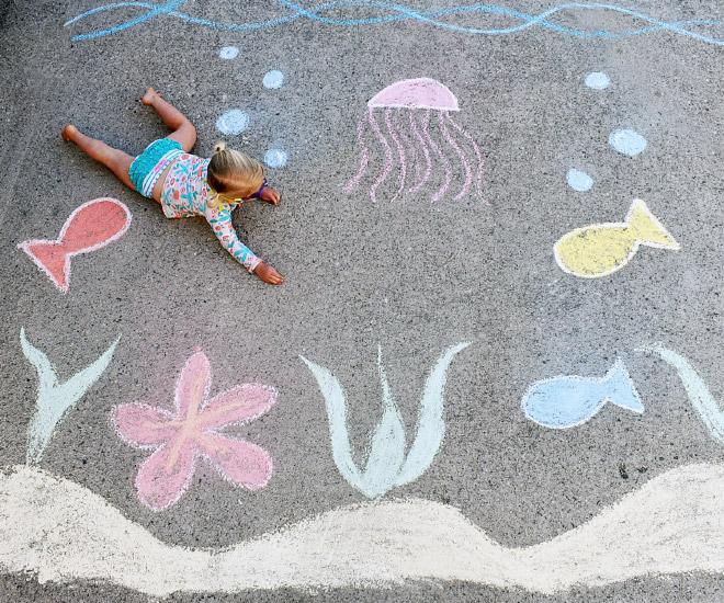 Brilliant chalk art.