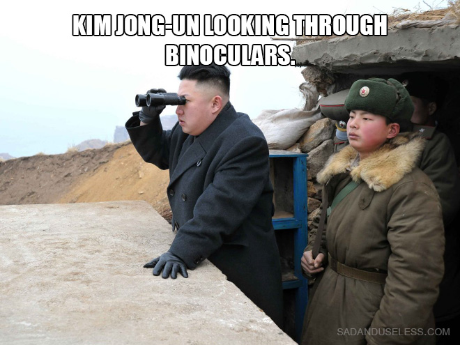 Kim Jong-un looking at things.