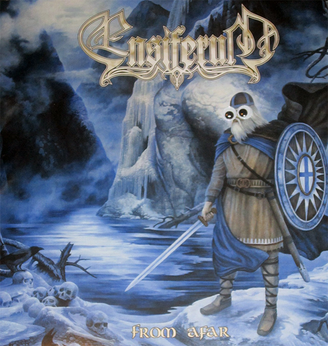 Metal albums are much less scary with googly eyes.