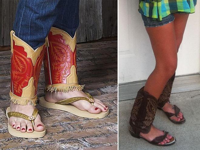 Cowboy boot sandals - hot Summer 2020 fashion trend!