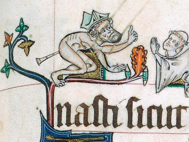 Medieval art is strange.