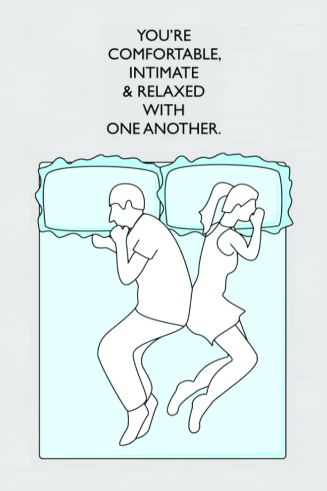What your sleeping position says about you.