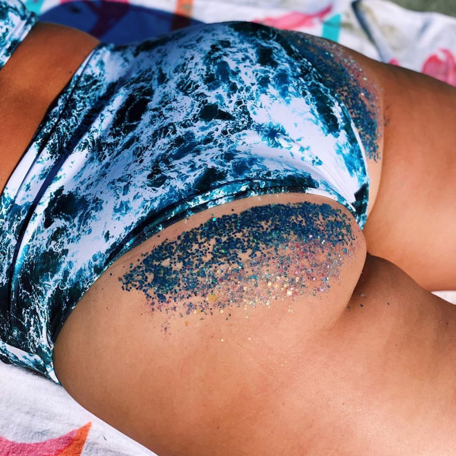 Glitter butt trend is strong this Summer.