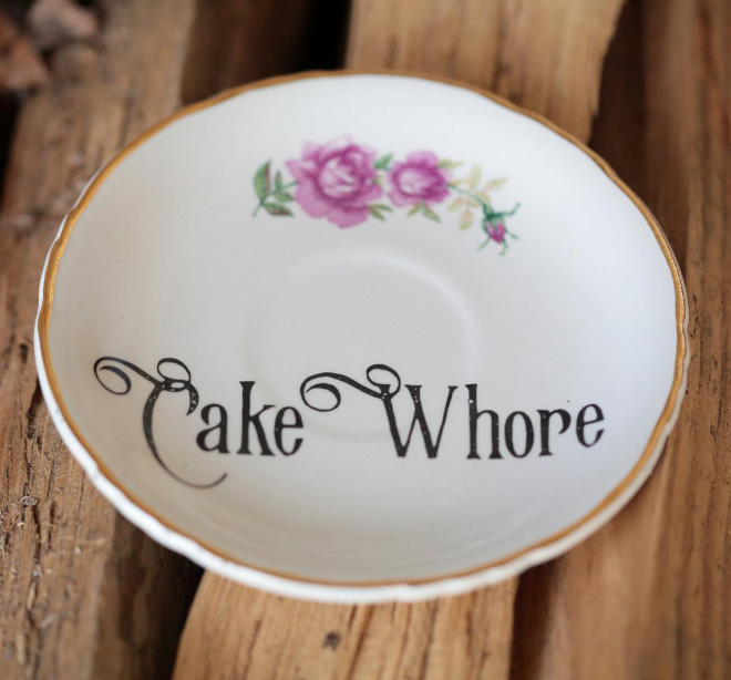 Plate for cake lovers.