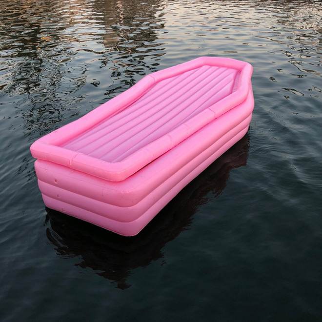 Coffin floatie sounds like so much fun, right?