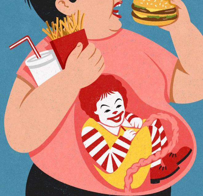 Satirical illustration by John Holcroft.