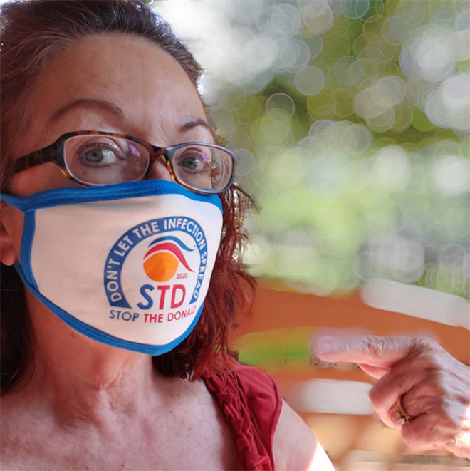 People are using face masks to fight against STD.