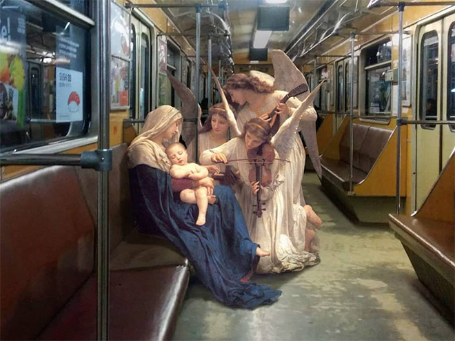 When classic painting enters modern world...