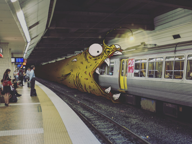 When imaginary monsters meet real world...