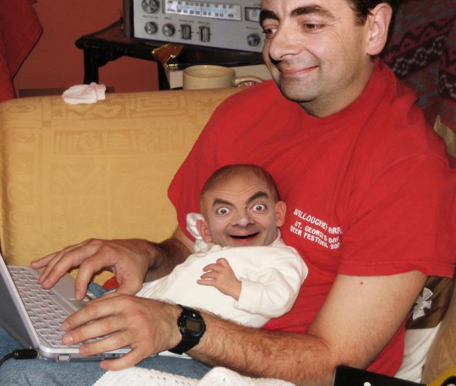 Mr. Bean meets Photoshop.