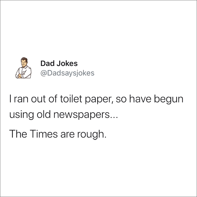 Brilliant dad joke.
