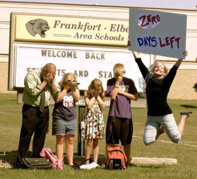 When kids go back to school...