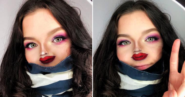 Weird Instagram Trend: Tiny Face Makeup