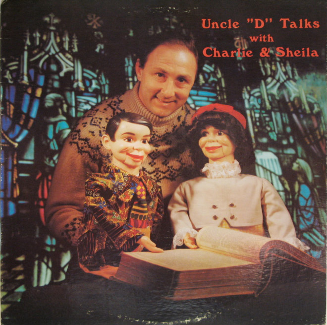 Creepy vintage Christian album cover.