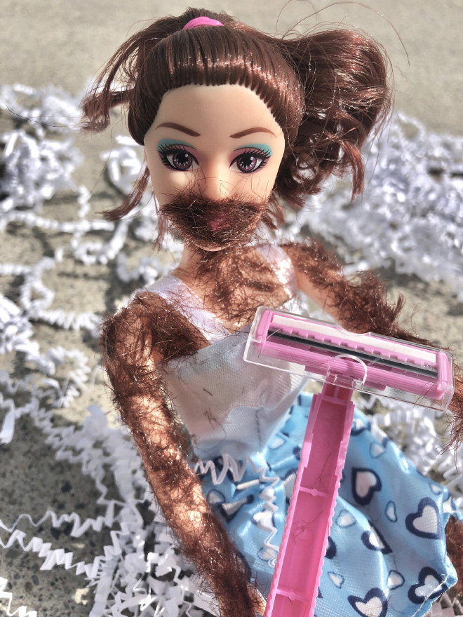 Would you like to shave this doll?