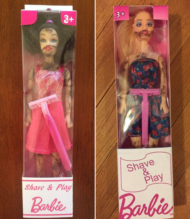 Hairy Barbies.